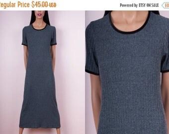 SUMMER SALE 90s Knit Maxi Dress