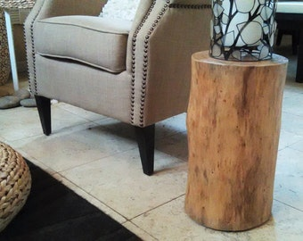 Tree stump table - Log table - Tree trunk table - Reclaimed Wood table -  Pine wood table -