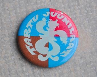 "Vintage Estonian tin badge,pin.""Tartu-June fair"""