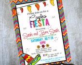 Fiesta Invitation Printable party invites by Luv Bug Design