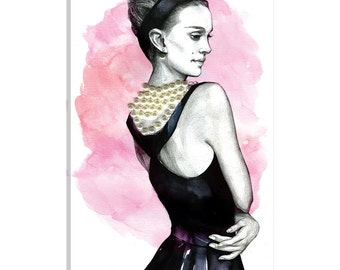 iCanvas Natalie Portman Gallery Wrapped Canvas Art Print by Rongrong DeVoe