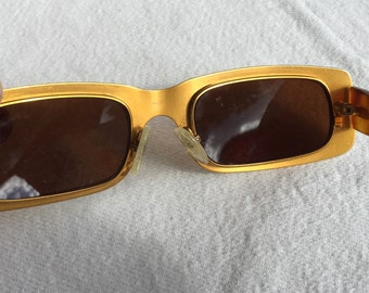 Gianfranco Ferre Sunglasses vintage glasses frames eyeglasses GFF Alutanium gold Lady Gaga style Ferrè
