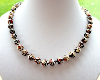 BALTIC AMBER Mosaic Adult Necklace
