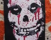 misfits fiend skull messy blood patch