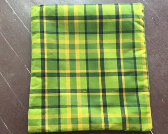 Green Westfalia Plaid Pillow Cover