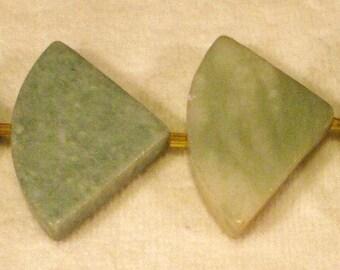 4 Gemstone Ching Hai Jade Triangle Pendants #11