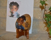 A Rock For my Granny with Acrylic Painted Picture Of Me