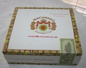 Vintage Macanudo Portofino Cigar Box Excellent Condition Cigars Craft Collectible Display Accent