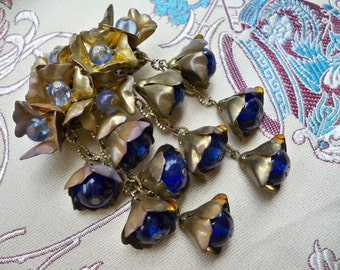 Beautiful DECO 1930's DROPLETS Costume Brooch