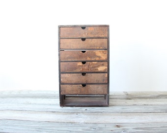 Wooden Apothecary Storage Cabinet
