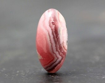 Loose Gemstone Banded, Bacon Rhodochroiste, Natural Gem Cabochon, Oval Stone, Wire Wrapping, Bezel, Beads, Findings, Settings, Giftables