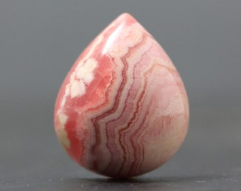 Loose Gemstone Pink Rhodochroiste Natural Gem Cabochon Stone Wire Wrapping Healing Stone, Emotional Aid Joy and Love (CA3981)