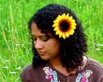 Large Sunflower hair clip
