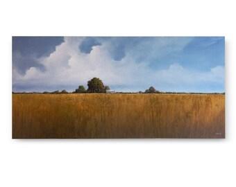 """Original Art, LARGE LANDSCAPE painting 24 X 48 """"US 23"""""""