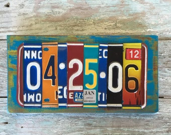 Tenth Anniversary License Plate Sign