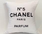 "18""X18"" Chanel No 5 Paris Perfum Pillow Cover"