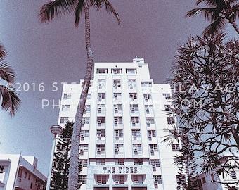 Vintage South Beach Miami 'Tides Hotel' Tropical Art Deco Photograph