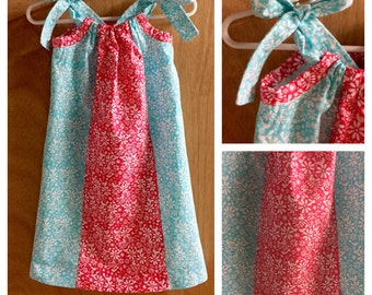 Pillowcase Dress, Birds and Flowers, size 3t