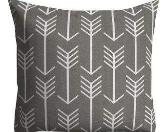 Grey Outdoor Pillows, Decorative Outdoor Pillows,Patio Decor, Outdoor Throw Pillows, Patio Pillows, Pillow Covers, Arrow Pillows
