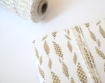 Wrapping Paper - Gold Feather Wrapping Paper