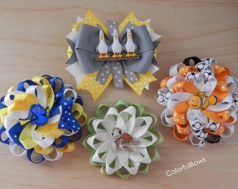 Movie Finding Dory Nemo Loopy Hair Bows for Girls