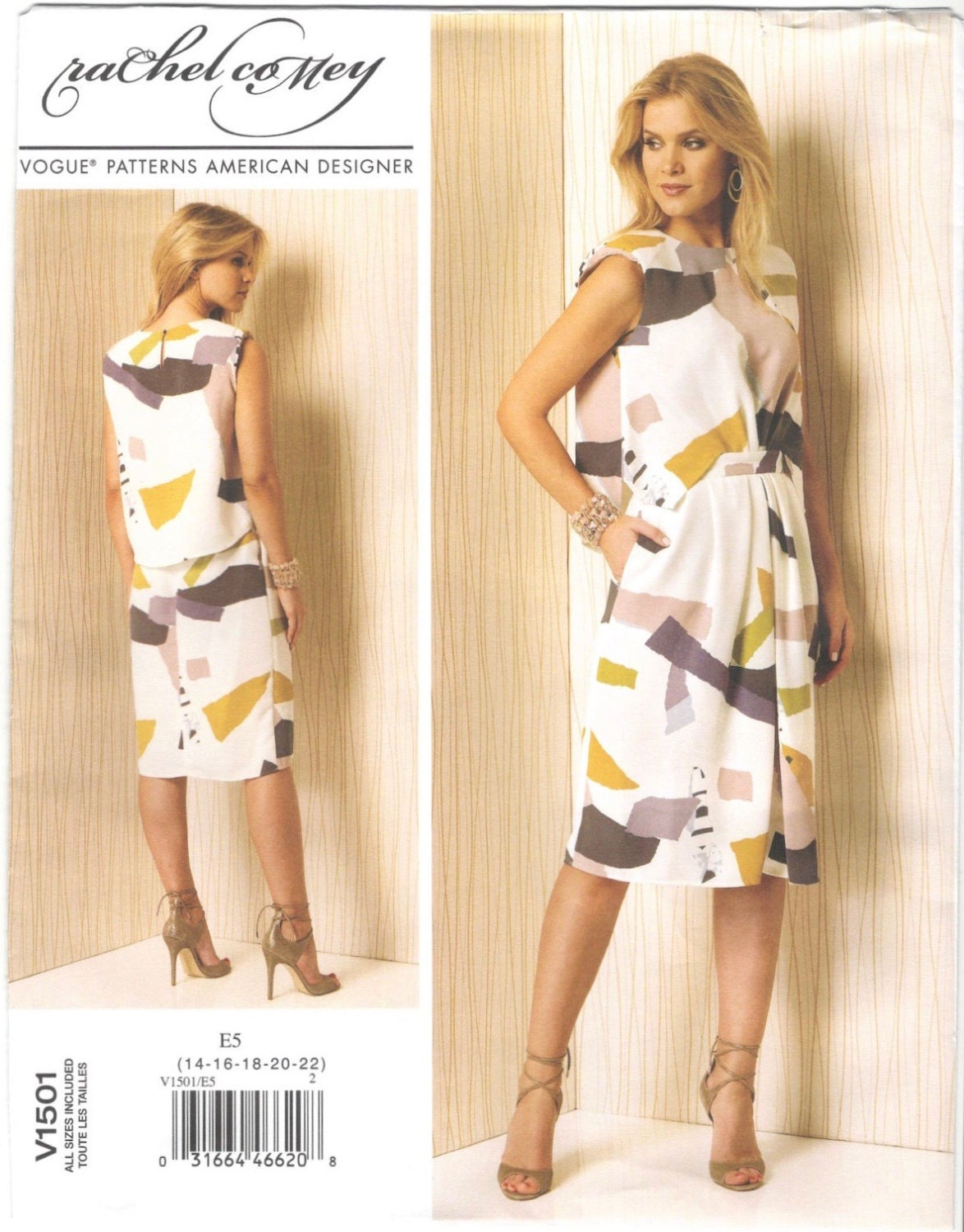 Rachel Comey's Delane dress pattern Vogue 1501