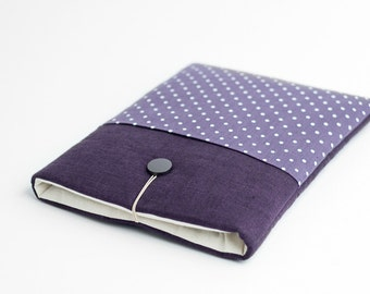 Surface Pro 4 case, Macbook 12 inch sleeve, minimal, with pocket, polka dot