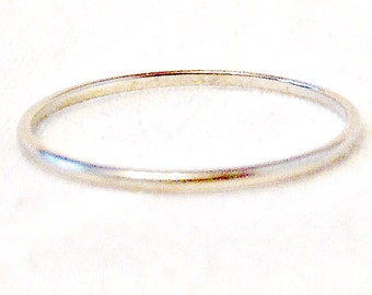 Art Deco 18K White Gold Band, Wedding Band, Stacking Ring, Free Shipping