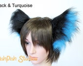 Party Super Fluffy Cat Ear Headband - Neko Kitty Ears gijinka - great for fursuits or furries - LARP festival dog wolf fox