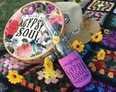Gypsy Soul, Can Cozy, Blame My Gypsy Soul, Beer Cozi, Gypsy, Neoprene Can cooler, Cozi, Kozy