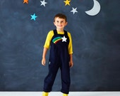Star dust dungaree costume for children