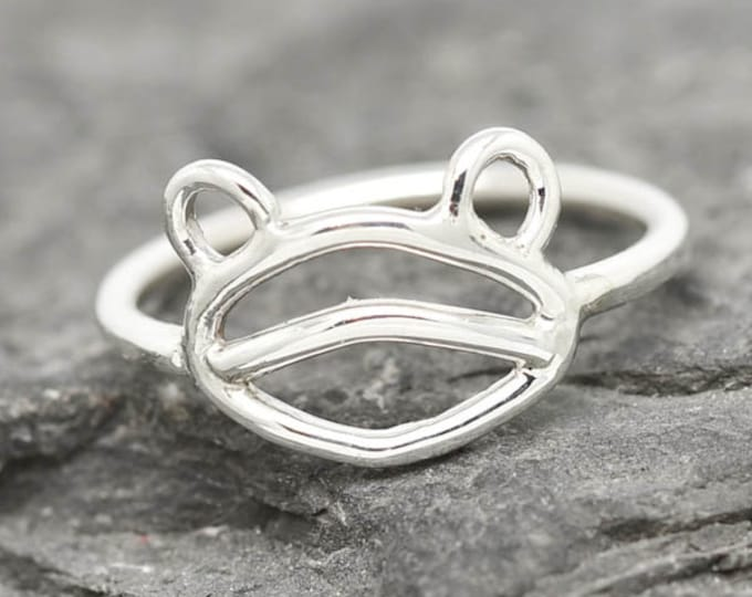 Frog Ring, Frog Jewelry, Frog Accessories, 925 Sterling Silver, Animal Ring, Animal jewelry, Kids Ring, Kids Jewelry
