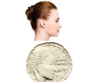Custom Coin Portrait 3D Printed Silver Personalized Stuff