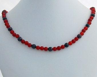 Garnet Carnelian Natural Stone Beaded Necklace