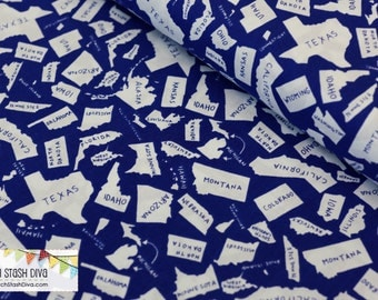States on Blue by Windham Fabrics