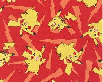 Ready To Ship - Pokemon Pikachu Toss On Red From Robert Kaufman