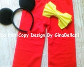 Mickey Mouse Pants Halloween costume Birthday cake smash outfit FREE ears optional Suspenders bow tie 2t 3t 4t 5t 3 4 5 toddler Limited SALE