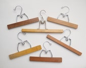 Vintage Wooden and Metal Skirt Photo Hangers