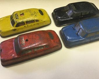 Four Vintage 1950's Tin Litho Argo Metal Cars