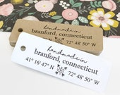 Coordinates Gift Tag / Product Tags / Kraft Tags / Product Packaging / Happy Mail Tags / Gift Wrap Supplies / Favor Tags / Paper Crafting