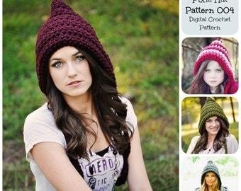 Crochet Pattern, Hat Pattern, Pixie Hat Pattern 004 & 005, Elf Hat Pattern, Gnome Pattern