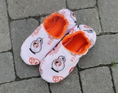 Droid Bb8 Star Wars Slippers,  Children's Non skid Slippers made with Star Wars Fabric