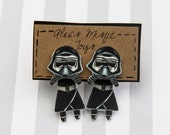 Star Wars Inspired Kylo Ren Clinging Earrings Faux Gauges
