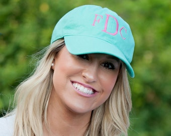 Monogrammed Ball Cap - Custom Monogrammed Hat - Summer Hat - Beach Hat - Pool Hat - Monogrammed Gift - Christmas gift - Birthday gift