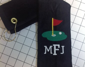 Golf gift, Monogrammed golf towels, personalized golf towel, wedding party, best golf towel, golf gift, golf prize, golf accessories, 11x17
