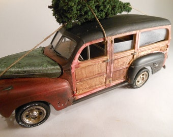 Classicwrecks Rusted Wreck Scale Model Ford Woody Car