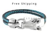 Horse bracelet, Horse braided bracelet, Cowboy gift, Cowgirl present, Custom made cuff, Leather bangle, For him, For her, Handmade bracelet