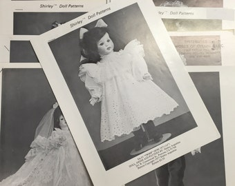 11 Shirley Augustine Doll Patterns