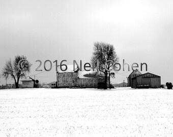 Farm, Aurora, Illinois archival black and white inkjet photograph