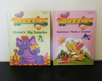 Vintage 80s Children's Book Bundle- The Wuzzles - 2 Books - 1984